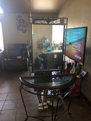 Table and mirror for Sale in Turlock, CA
