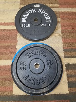 Discs free weights check them. Pesas gym. for Sale in Alexandria, VA
