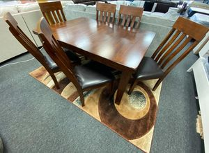 +]] Same-Day Delivery +]] Brody espresso 5 pc dining room set +]] table and 4 chairs for Sale in Pasadena, TX