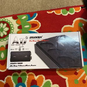 Brand New Never Used 2500 Watts 4 Channel Audio Pipe Amplifier for Sale in High Point, NC
