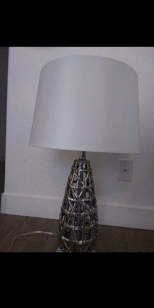 Silver ceramic formal lamp for Sale in El Mirage, AZ