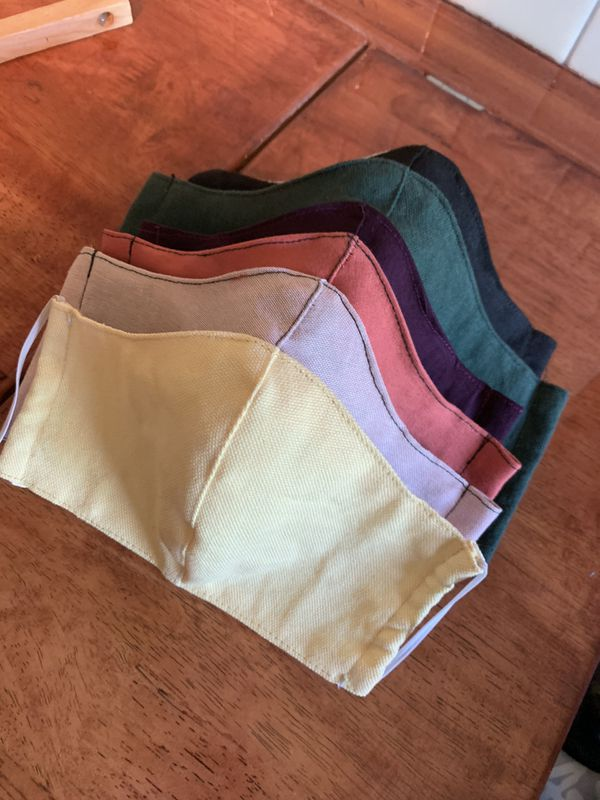 Set of 6 Face mask with filter pocket in 6 color options available in men's women's and child size( 3-6) Mix & Match your 6 face mask