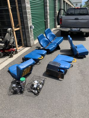 9 bus seats, and seat belt hardware for Sale in Mount Vernon, WA