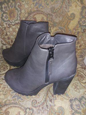 Grey Ladies High Heel Boots. for Sale in San Jose, CA