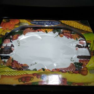 Thanksgiving Serving Platter And Salt And Pepper Shakers for Sale in Eagle Lake, FL