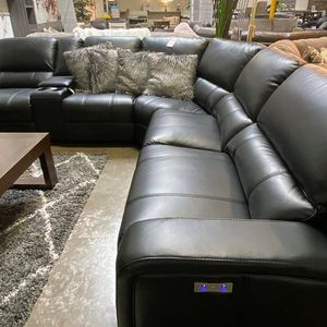 NEW IN THE BOX. EURO 3 PC GRAY POWER MOTION SECTIONAL SOFA RECLINER, SKU# EUROGRY for Sale in Santa Ana, CA