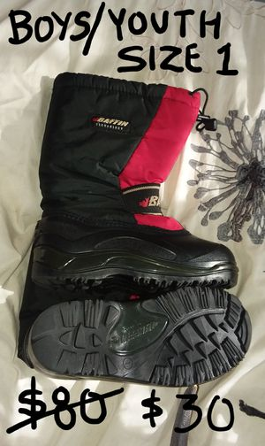 Baffin -40° Winter Snow Boots Size 1 Youth Boy's for Sale in East Amherst, NY