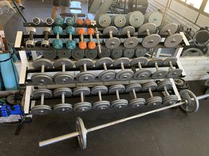 Weight set / bar and bench for Sale in Santa Ana, CA