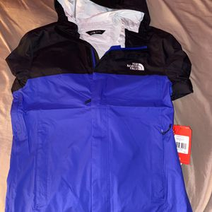 The North Face Venture 2 Dryvent Waterproof Hooded Rain Jacket - Blue Mens Small for Sale in Powell, OH