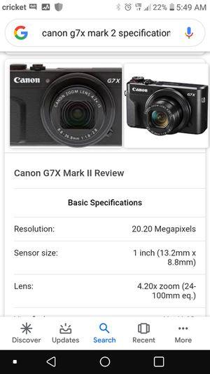 Camara Cannon G7X Mark 2 for Sale in Homestead, FL