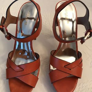 Coach orange leather platform shoes for Sale in Fort Lauderdale, FL