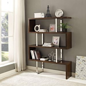 FREE DELIVERY 🚚 Meander 66'' Tall Bookcase Stand in White for Sale in Katy, TX
