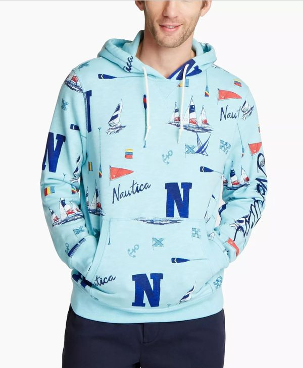 Nautica Mens Sweater Hoodie Sport Running Gym Clothes polo ralph Lauren nike adidas under armour