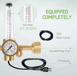 Hydroponics CO2 Regulator Emitter System with Solenoid Valve Flowmeter for Sale in Hacienda Heights,  CA
