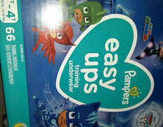 Pampers Easy Ups Pullups Size 3/4t Pj Mask for Sale in Clackamas,  OR