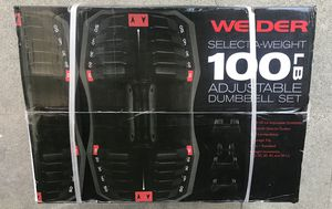 Adjustable dumbbells 100lbs for Sale in Arcadia, CA