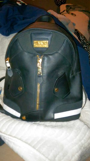 Michael Kors black w white racing stripes backpack purse for Sale in Hiram, GA