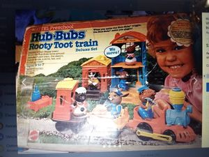 Vintage 1970's Mattel Hub Bubs plastic toy train set with figures for Sale in Auburn, WA