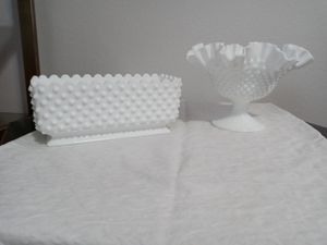 Milk glass $20 each piece. for Sale in Puyallup, WA