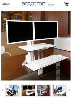 WorkFit-S Dual Desk Converter with Worksurface (Dual monitor) for Sale in Benicia,  CA