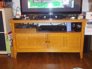 Nice Wood TV Stand Entertainment Center Wooden for Sale in Charlottesville, VA