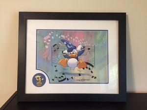 Disney Commemorative framed art with Mickey pin for Sale in Pompano Beach, FL