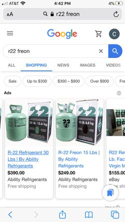 R22 freon 30 pound tanks new for Sale in Commerce City,  CO