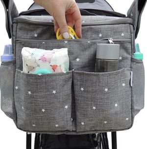 Universal Parents Diaper Organizer Bag with Stroller Attachments. Large Strollers Insulated Baby Bag. Gift for Newborns, Infants, Toddlers, Babies. 3 for Sale in Garden Grove, CA