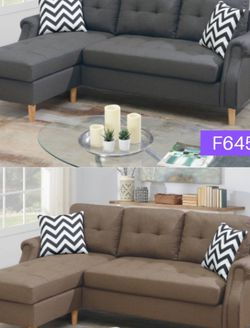 Grey Compact Sectional Sofa Item#F6459/F6458 for Sale in Santa Ana,  CA