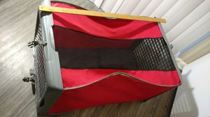 36 x 20 x 20 folding collapsible scarlet and gray dog crate for Sale in Columbus, OH