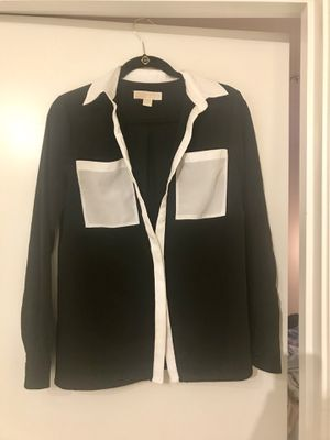 Michael Kors long sleeve blouse black/white S for Sale in Seattle, WA