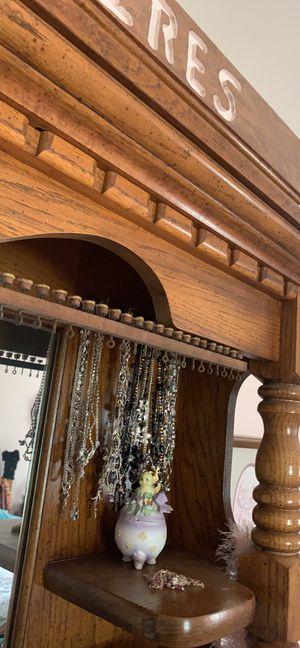 Jewelry tree mount to you bureau hardwood oak for Sale in Palmyra, PA