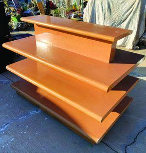 4 tier display table. dark wood. for Sale in Tucson, AZ
