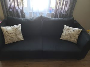 Black sofa with accent pillows for Sale in Penn Hills, PA