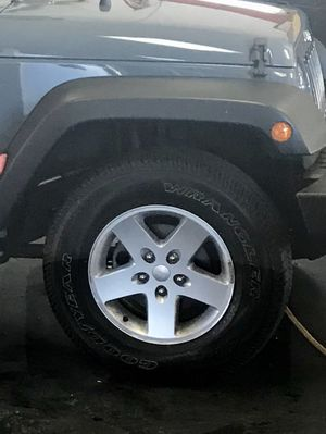 Jeep Wrangler; Wheels with tires for Sale in Everett, MA