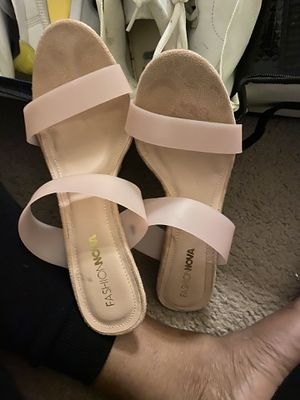 Fashion Nova heel slippers for Sale in Cleveland, OH