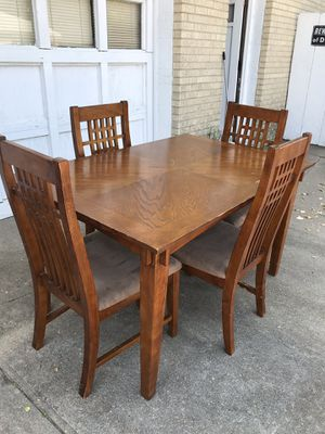 Craftsman Type Style Table and Chairs for Sale in Wichita, KS