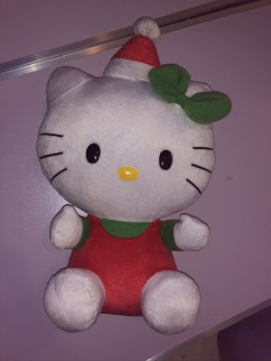 """2011 Ty Hello Kitty Christmas Santa Claus Beanie Baby Plush 8"""" Tall $10. for Sale in Elgin, IL"""