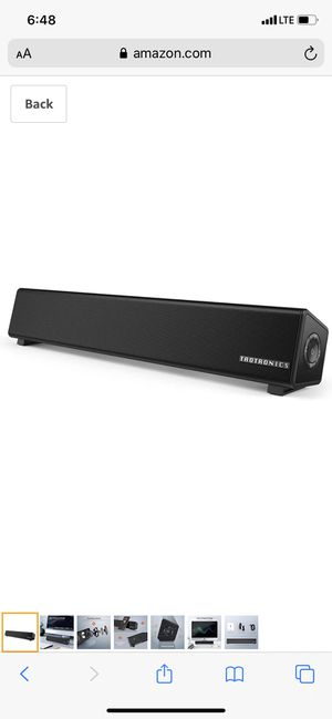 TaoTronics Bluetooth 5.0 Computer Speaker, Wired/Wireless Computer Sound Bar, Mini Soundbar Speaker for PC/Cellphone/Tablets/Desktop, Aux Connection for Sale in Palmdale, CA
