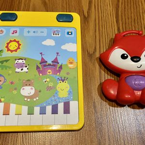Electric Musical Tablet for toddlers and Red Fox Musical Toy (2 for $10) for Sale in Hershey, PA