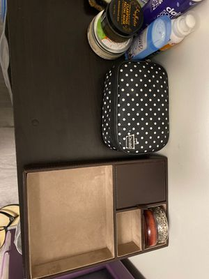 Pottery Barn Brown Leather Jewelry Box/Organizer - Bangles included for Sale in Ithaca, NY