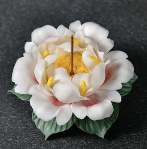 100% Handmade,Ceramic Incense Burner, Lotus Flower Incense Holder,Petal Incense Burner for Sale in City of Industry, CA