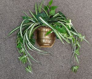 Vintage Brass Wall Planter With Artificial Flowers for Sale in Burlington, NC