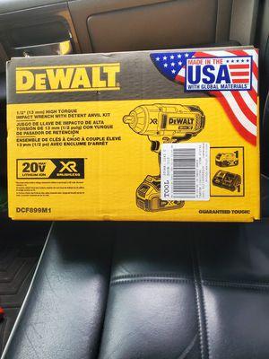 "Dewalt 20v XR Brushless 1/2"" HIGH TORQUE IMPACT WRENCH W DETENT ANVIL KIT for Sale in Riverview, FL"