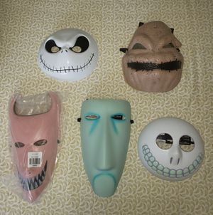 NIGHTMARE BEFORE CHRISTMAS MASKS COMPLETE SET for Sale in Stockton, CA