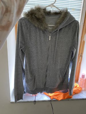 Michael kors fur hooded zip up for Sale in Wood-Ridge, NJ
