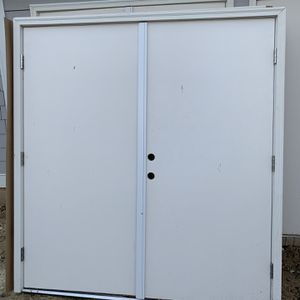 (2) 6-0 Outswing Doors Great For Shed for Sale in Alexandria, VA
