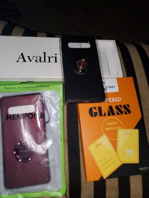 Galaxy s10 phone cases and tempered glass screen protector for Sale in Lake Charles, LA