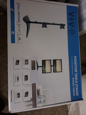 ViV duel monitor mount holds 13-27 inch monitors new in box for Sale in Myrtle Beach, SC