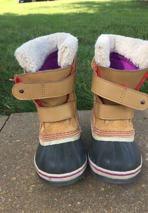 Sorel leather boots; girls size 9 for Sale in Mount Vernon, IA